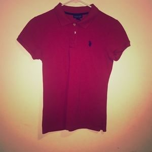 Authentic red US polo shirt